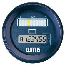 "Curtis Instruments 802Rb12Bn0010 Series : 12V Dc Battery ""Fuel"" Gauge & Guard"