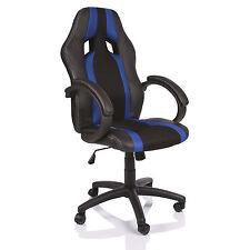 TRESKO® Sedia da ufficio girevole per casa Poltrona ufficio Sportiva Blu