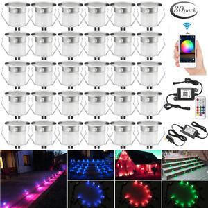 Outdoor LED Garden Decking Plinth Lights WIFI Bluetooth Kit-30mm Waterproof IP67