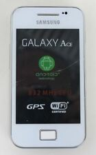 SAMSUNG Galaxy Ace GT-S5830i Android Unlocked White Smartphone Cracked Screen