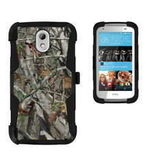 Beyond Cell Shell Case Armor Clip Holster For HTC Desire 526 Hunter Tree Camo