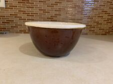 """Vintage Rare Hull Provincial Brown White Usa 6.5"""" Bowl Oven Proof Stoneware"""