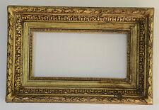 Ancien cadre XIX ème Barbizon doré à la feuille - frame cornice rahmen marco