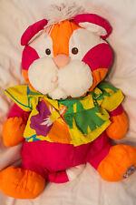 Vintage Fisher Price Puffalump Tiger Pink Orange Wild Thing  Hawaiian Shirt 1987