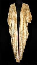 Museum Quality French Antique 1920'S Jamori Designer Gold Silk Velvet Opera Coat