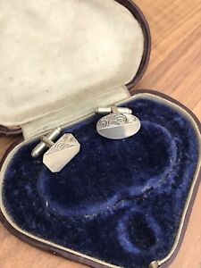 Sterling Silver Engraved Cufflinks 6.36gr