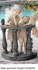 "19 1/2"" Children ""Hide and Seek""-Garden Patio Home Sculpture Statue-NEW"