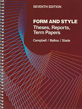 2 Books on Writing! Form and Style: Theses, Reports... & Little Red Writing Book