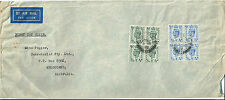 GB 4d Blue King George Sixth block of 4 on commercial first day cover