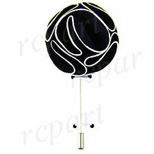 New in box formal Men's Suit chest brooch Black fabric flower lapel pin
