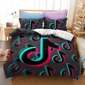 3D Hot Tik Tok Bedding Set Duvet Qulits Cover Comforter Cover PillowCase