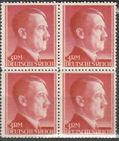 Stamp Germany Mi 801a Sc 526 Block 1941 WW2 3 3rd Reich Adolf Hitler Hitler MNH