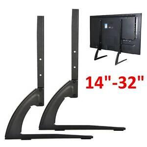 "Universal Table Top TV Stand Base VESA Pedestal Mount 14""-32"" LCD OLED 3D TVs UK"