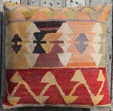 (50*50cm, 20inch) Boho style vintage handwoven kilim cover multicoloured motifs