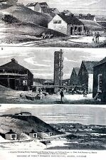 Ardeer Ayrshire 1883 NOBELS DYNAMITE FACTORY Manufacturing Matted Art Engraving