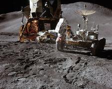 Nasa Apollo 15 Rover und Mond Modul On Moon 11x14 Silber Halogen Fotodruck