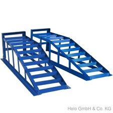 2x Auffahrrampe Rampe PKW bis 265er Räder extra breit  blau je 2000 kg