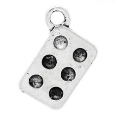 Baking Tin Charm Cup Cake Muffin Mould Tibetan Silver Pendant Charms qty 10