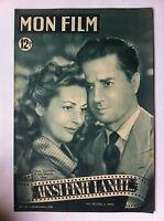 """Mon Film n°171 du 30/11/1949 """"Ainsi finit la nuit..."""" Claudine Dauphin, Vernon"""