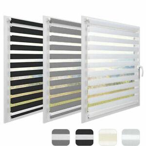 Vison Window Roller Blinds Zebra Curtains Day&Night 150cm Drop Home Office Blind