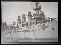Frankreich Schiff Militär Foto Negative Platte De Verre Vintage c1930