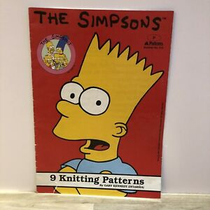 Vintage 90's The Simpsons Intarsia Gary Kennedy 9 Knitting Patterns Jumpers