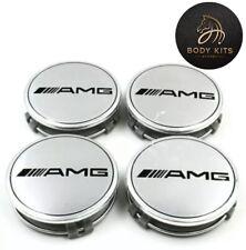 4*Mercedes Benz AMG Wheel Rim Centre Cap 75MM Standard Caps (Black Or Silver)