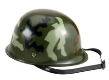 New Kid's Toy Camouflage Plastic Army Helmet for Play or Halloween Costume