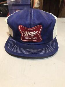Vintage Miller High Life Trucker Hat