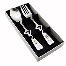 2pcs/set KPOP BTS Bangtan Boys Stainless Steel Fork Spoon Cutlery Set Gift Home