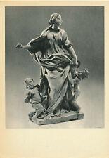Russian Soviet 1972 Postcard-La Justice ,Terre Cuite by Melchiore Caffa Maltais