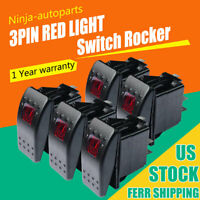 Rocker switch 6M42R 12V AUTO PILOT LED red 5 pins marine boat waterproof SPST