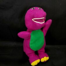 "Barney and Friends Plush Purple Dinosaur Stuffed Animal Beanie 7"" Soft Eyes"