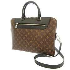 LOUIS VUITTON Porte Documents Jour Monogram Macassar Men's Business Bag