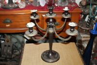 Vintage Victorian Style Candelabra Candlestick Holder 4 Arms Holds 5 Candles