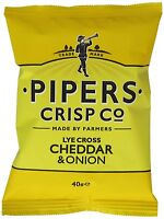 Pipers Crisps - Lyecross Cheddar & Onion (24 x 40g)