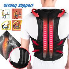 Adjustable Back Posture Shoulder Corrector Brace Support Belt Therapy Women Men
