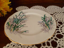 ROYAL ALBERT ENGLAND BREAD & BUTTER PLATE 16CM SNOW DROP FLOWERS OF THE MONTH