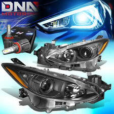 For 2014 2016 Mazda 3 Bm Projector Headlight Lamps Withled Kitcooling Fan Black Fits Mazda 3
