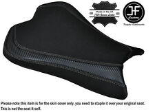 CARBON GRIP GREY DS ST CUSTOM FITS KAWASAKI ZX6R 636 09-15 FRONT SEAT COVER