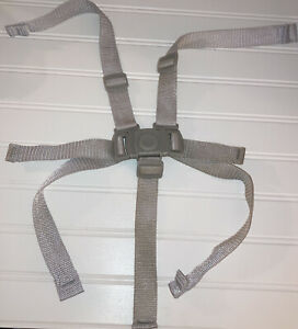 Genuine Graco Blossom High Chair 5 Point Safety Harness Staps Set GRAY