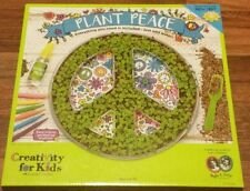 Plant Peace garden kit - Craft Kit for Kids 6 to 96. Chia Coloring, Art, Family