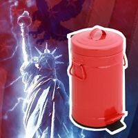 Big Bold American Style Pedal Bin 3L Red metal powder coating Kitchen Bathroom