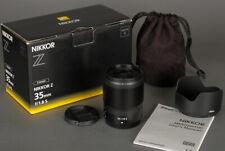 Nikon Nikkor-Z 35MM F1.8 S Prime Wide Angle  lens f/Z6 Z7 Mirrorless - Warranty!