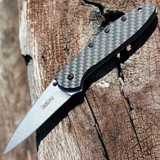 "KERSHAW ""USA"" - Carbon Fiber LEEK CPM-154 Spring Assisted SPEEDSAFE Knife 1660CF"