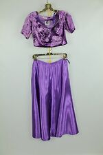 Women's Purple  Bollywood Dancer Fancy Dress Costume Small (2)