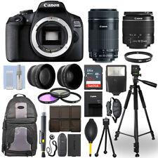 Canon EOS 2000D / T7 DSLR Camera + 18-55mm + 55-250mm STM 4 Lens 32GB Valued Kit