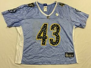M92 REEBOK Pittsburgh Steelers Troy Polamalu Blue WOMEN'S Jersey  XL