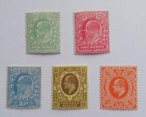 1911 Edward VII UMOUNTED MINT (Harrison Printing) SG279-286