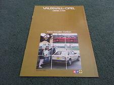 Summer 1983 VAUXHALL DIESEL CARS - Astra Cavalier Carlton - UK BROCHURE - V5092